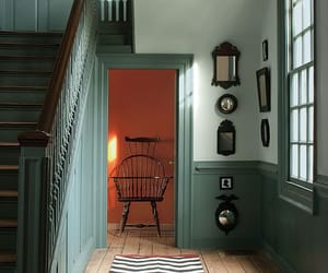 antique furniture, blue, and historic homes image