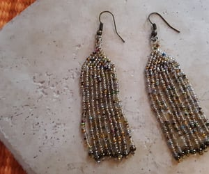etsy, glass seed beads, and handmade earrings image
