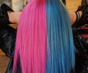 pink-blue hair color image