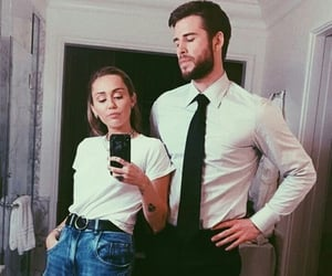 miley cyrus, liam hemsworth, and celebrity image