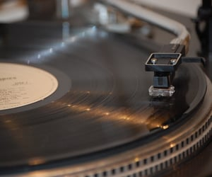 aesthetic, brown, and gramophone image
