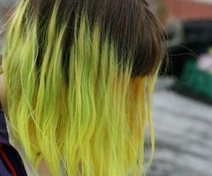 hair, yellow, and grunge image