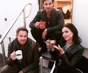 lana, once upon a time, and tv image