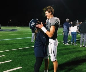 couple, football, and cute image