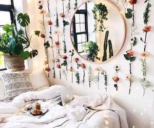 flowers, bedroom, and room image