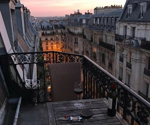 paris, aesthetic, and sunset image
