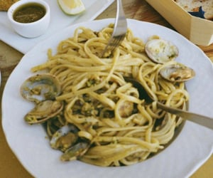 clams, pasta, and seafood image