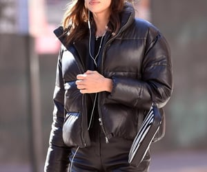 fall fashion, fashion, and leather pants image