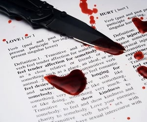 aesthetic, blood, and knife image