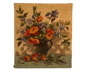 etsy, flower art, and french painting image