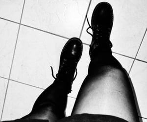 black, white, and bottines image