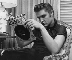 elvis, Elvis Presley, and black and white image