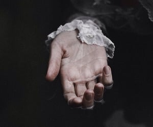 dark, hand, and vintage image