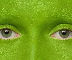 alien, face, and green image