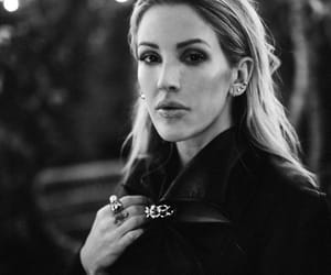 beauty, Ellie Goulding, and black and white image