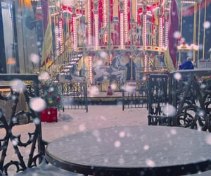 carousel, moscow, and snowing image