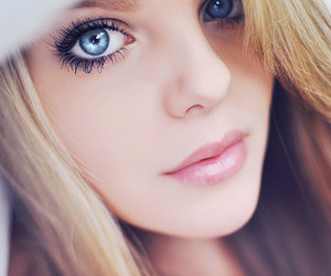 girl, eyes, and blonde image