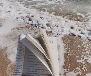 book, beach, and photography image
