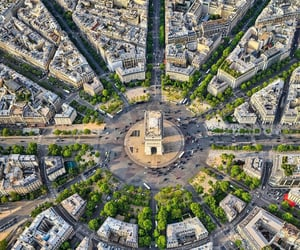 architecture, france, and aerial view image