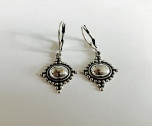 sterling silver, vintage jewelry, and dangle earrings image