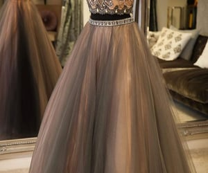 prom gown, 2 piece prom dress, and two piece prom dresses image