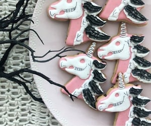 black, unicorn, and Cookies image