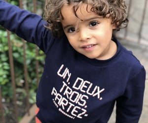 curly and toddler image