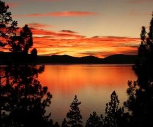 lake and sunrise image