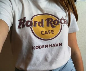 hard rock cafe, outfit, and shirt image