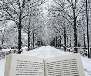 book, snow, and winter image