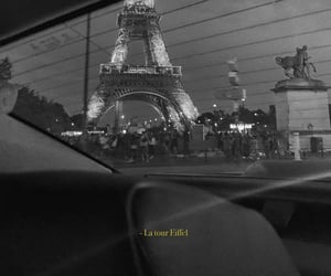 paris, black and white, and france image