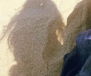 hair, sand, and summer time image