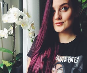 colorful hair, disney, and flowers image