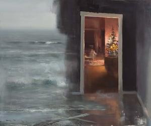 art, christmas, and ocean image