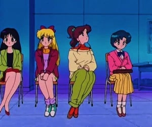 luna, sailor jupiter, and sailor saturn image