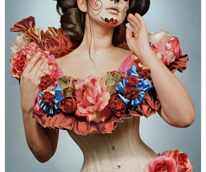 flowers and corset image