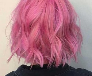 hair, pink, and aesthetic image