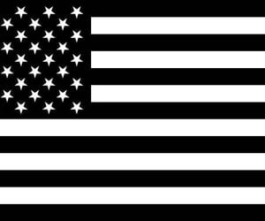 american flag, laptop decal, and military decal image