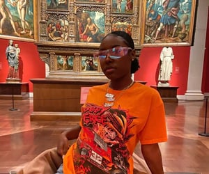 art, museum, and red image