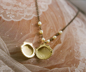 necklace, shell, and lace image