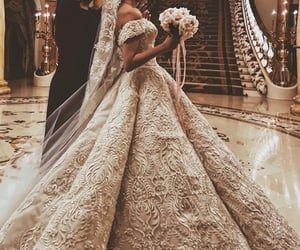 wedding, bride, and Couture image