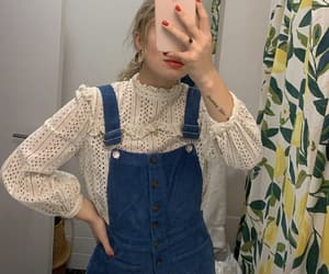 blouse, romper, and corduroy image