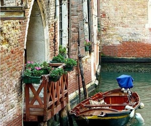 architecture, boats, and italy image