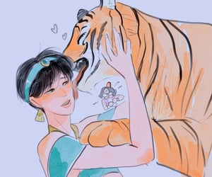 aladdin, tiger, and taehyung image