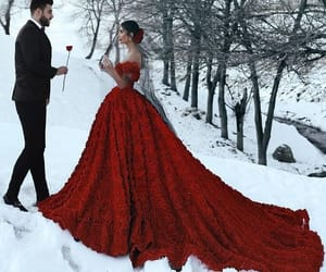dress, love, and red image