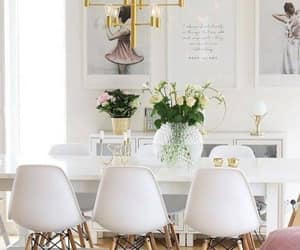 chair, chandelier, and decor image