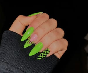 nails, green, and style image