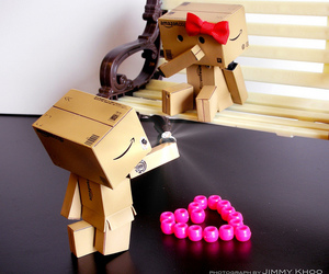 bench, danbo, and love is image