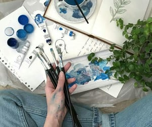 art, blue, and aesthetic image