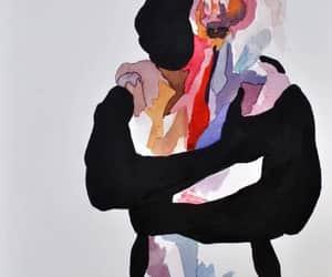 drawing, art, and hug image